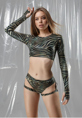 Комплект CLEO FLAME zebra green