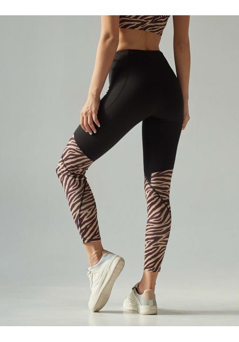 Лосины FELIX black/zebra
